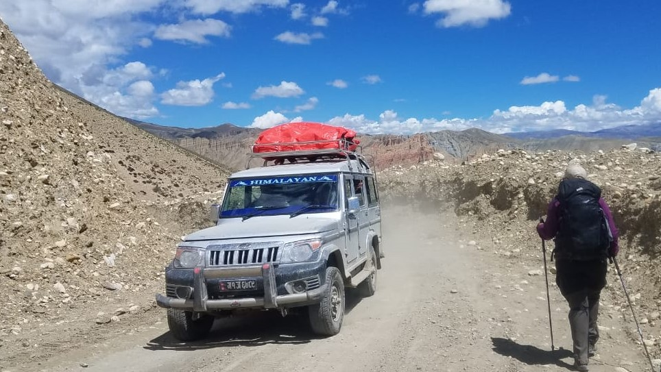 Jomsom to Upper Mustang by road